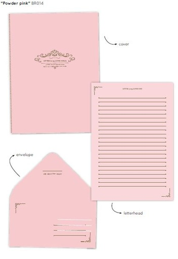 [BR014] Briefpapier 'Powder pink'