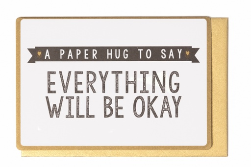 [LW2040] A PAPER HUG TO SAY EVERYTHING WILL BE OKAY