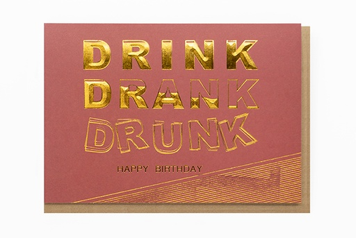[O4111] DRINK DRANK DRUNK